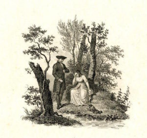 A man speaking to a seated girl (1802-1836 (c.)) by Philippus Velyn.