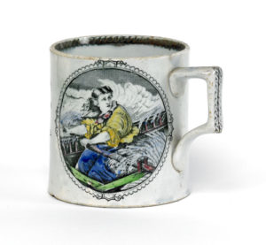 A mug showing Grace Darling's daring rescue. Image from Hull Museums.