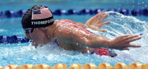 Jenny Thompson in the Women's 4x100 Medley Relay Final at the Sydney 2000 Olympic Games. Photo Credit: Hamish Blair/ALLSPORT