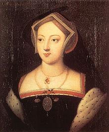 Mary Boleyn, in the style of Holbein. Hever Castle, Kent, England.