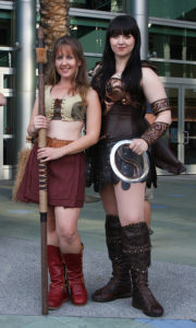Xena and Gabrielle costumes at WonderCon 2015