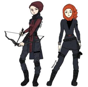 Nour Saleb's illustration of the Avengers