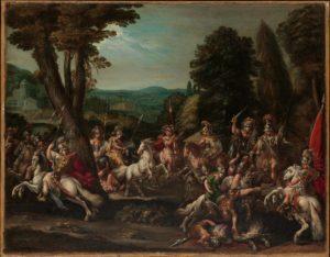 The Triumph of the Amazons, Claude Déruet, 1620s.