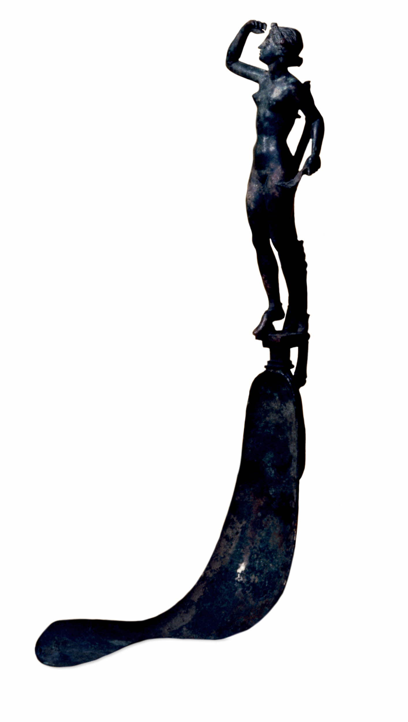 Bronze Strigil with Handle in Form of a Girl