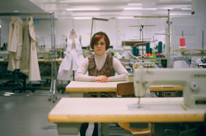 Girl in a clothing factory