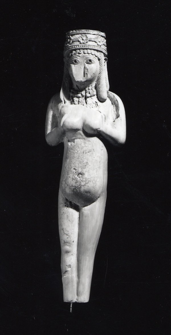 Nude figure of a woman made of ivory.