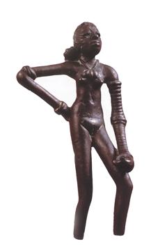Mohenjo-daro dancing girl figurine