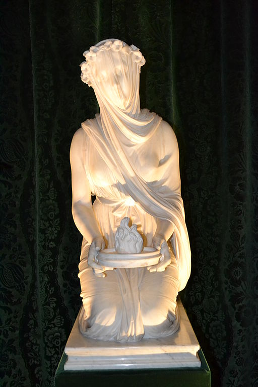 Chatsworth House Room: The Veiled Vestal Virgin