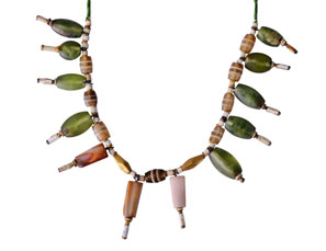 Necklace with beads