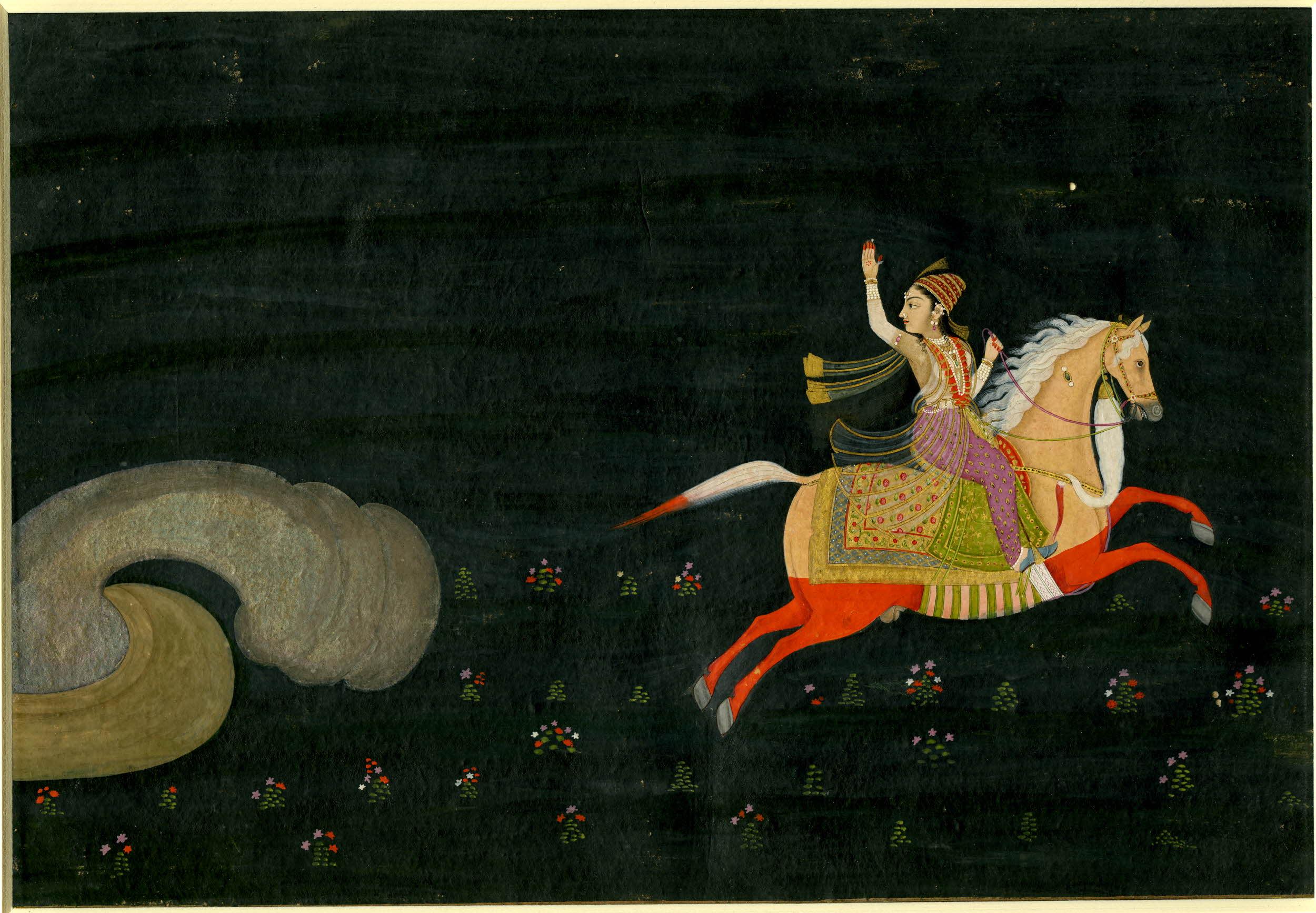 Mughal Album Leaf: A Heroine Unnamed