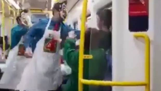 Masked men attack woman on a train in Auckland