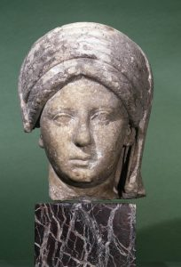 Marble bust of Vestal Virgin