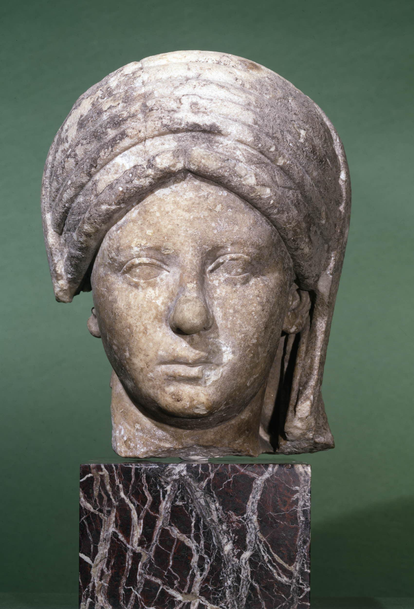 Marble bust of Vestal Virgin