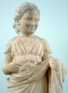 Marble statuette dedicated to Artemis at Brauron