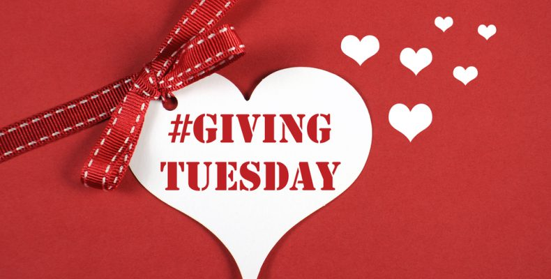 Giving Tuesday heart with bow