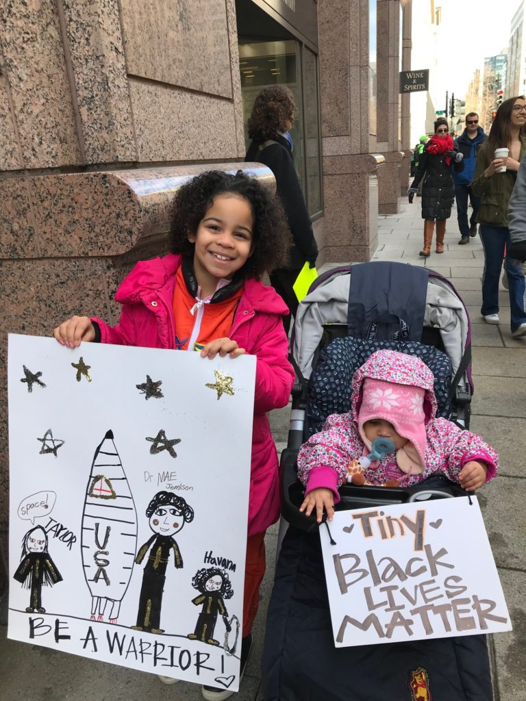 Havana Chapman-Edwards, left, attended the March for Our Lives in Washington, D.C., with her family on March 24, 2018. ABC NEWS