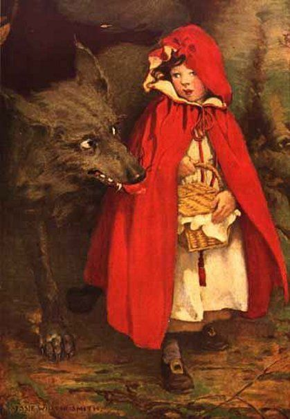 Fairy Tale History Little Red Riding Hood Girl Museum