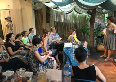 Ashley speaks to the Traditional Arts and Ethnology Centre in Luang Prabang