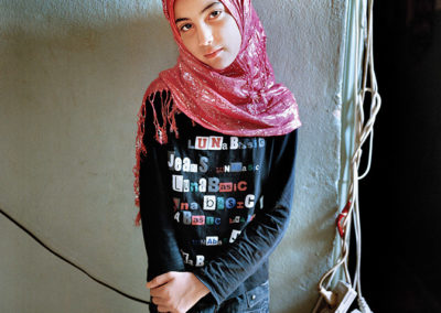 Rania Matar, Samira 12, Bourj El Barajneh Refugee Camp, Beirut, Lebanon, 2011, Becoming series.