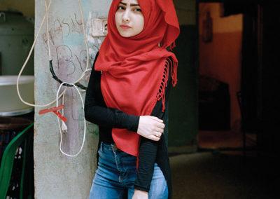 Rania Matar, Samira 17, Bourj El Barajneh Refugee Camp, Beirut, Lebanon, 2016, Becoming series.