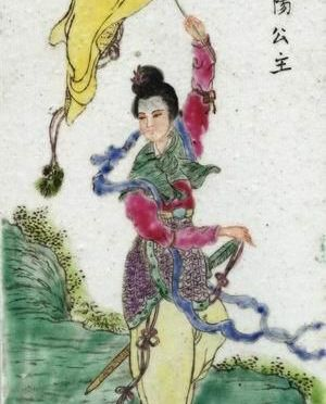 Young woman leading army
