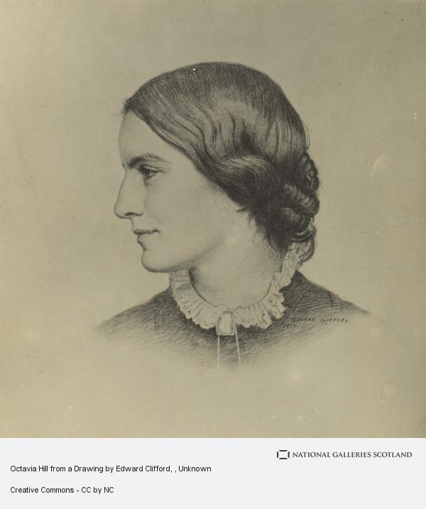 Line portrait of side of a woman's face