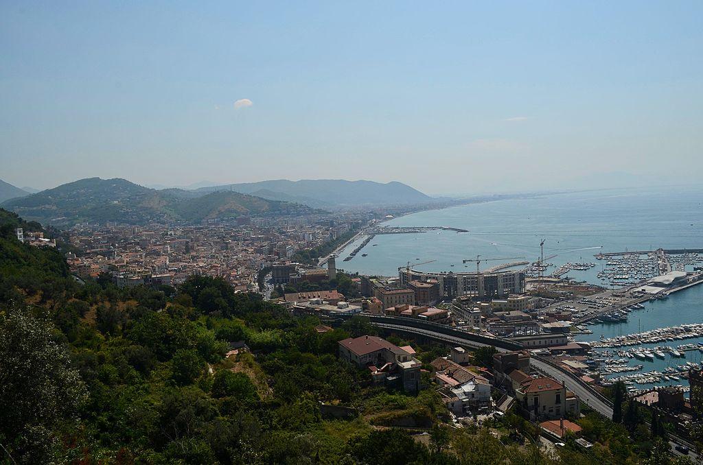 Panoramic of Salerno coastline