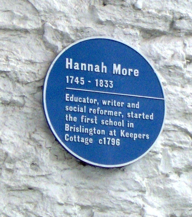 Blue Plaque for Hannah More on Keepers Cottage, Brislington.