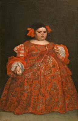 Painting of Eugenia Martinez Vallejo, Clothed, by Juan Carreño de Miranda.