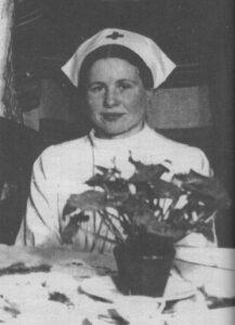 Irena Sendler in nursing uniform, 1944.