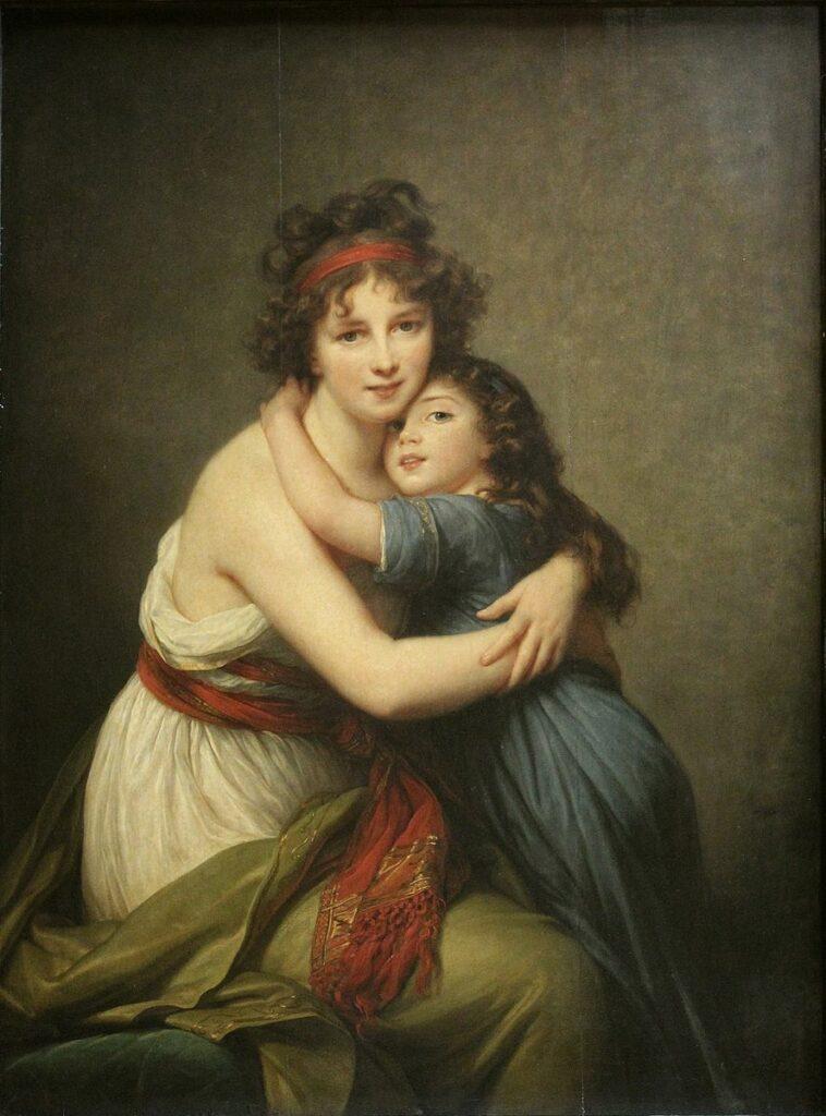 self portrait of Elisabeth Louise Vigée-Lebrun and her daughter
