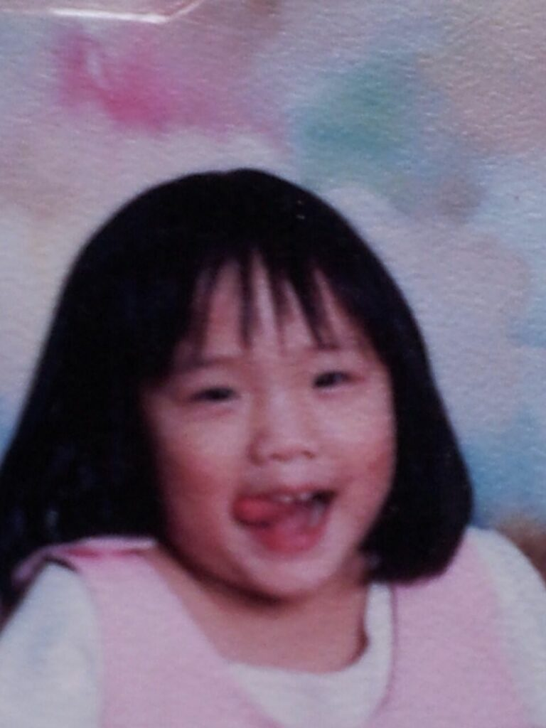Janice Yap as a young girl
