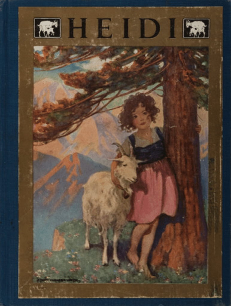 Cover of the 1922 edition of Heidi