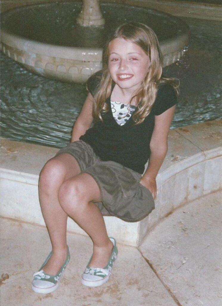 Sadie Dallas as a girl