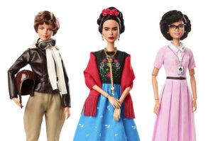 Barbie Amelia Earhart, Frida Khalo, Katherine Johnson