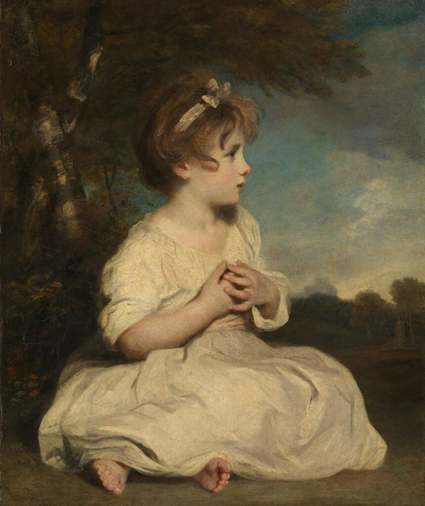 Sir Joshua Reynolds painting, The Age of Innocence