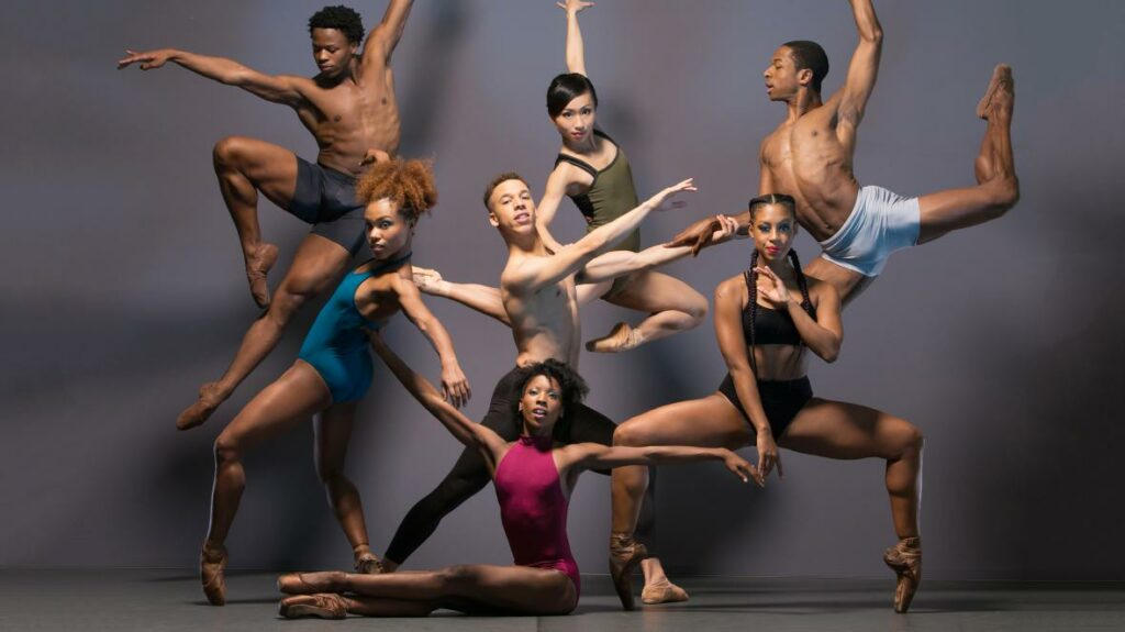 members of Ballet Black in a variety of poses