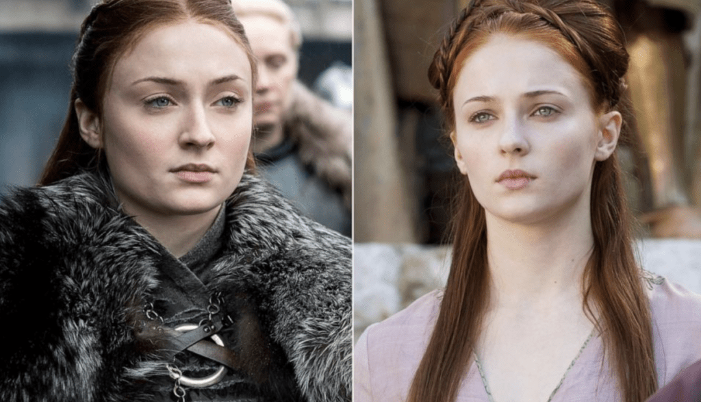 Sansa Stark as Queen in the North and in King's Landing