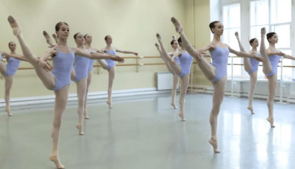 Ballet students in studio