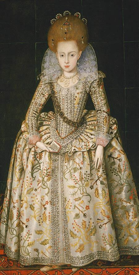 Princess Elizabeth by Robert Peake the Elder (ca. 1606)